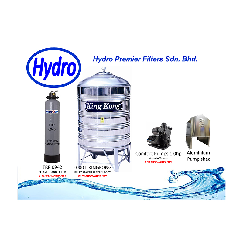 4 IN 1 Filter-Pump-Shed-Tank